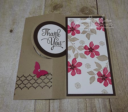 Summer Silhouettes Circle Card Full by Stampin Up