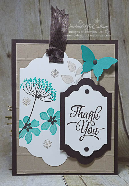 Summer Silhouettes Tag Card