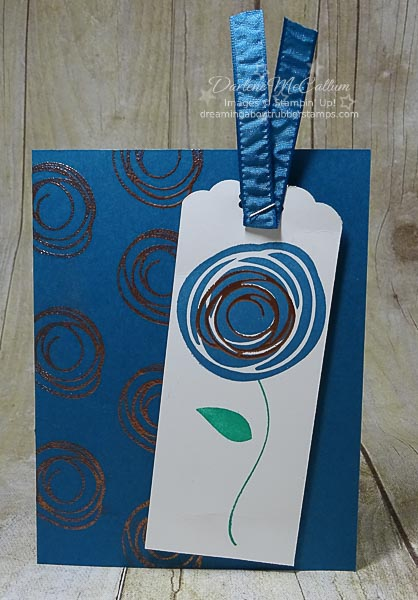 Stampin Up Swirly Birds in Dapper Denim