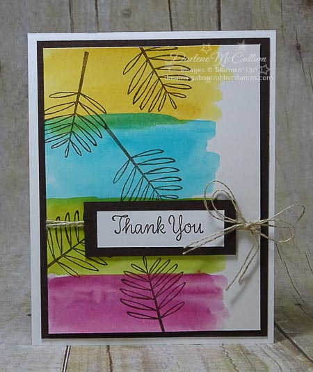 Stampin Up Totally Trees Watercolor