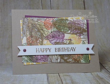 Stampin Up Vintage Leaves Masculine Birthday Card