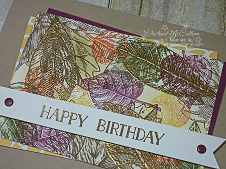 Stampin Up Vintage Leaves Masculine Birthday Card Close