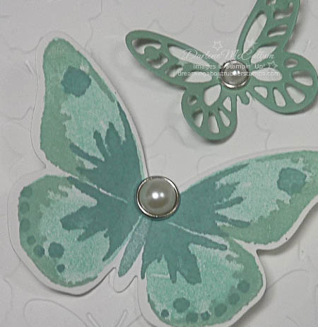 Watercolor Wings Mint Macaron Card 2