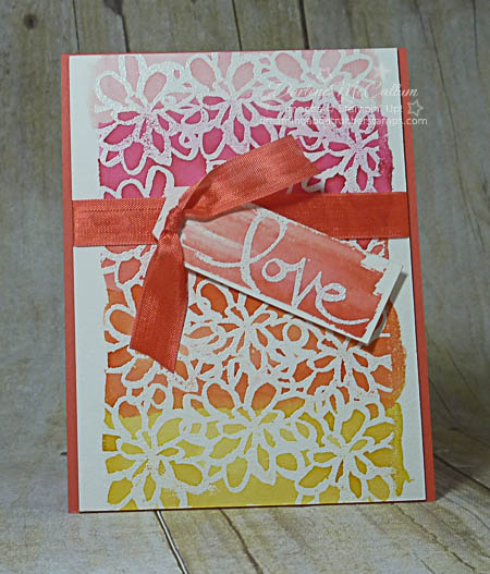 Watercolor Words Love Card