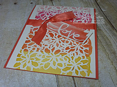 Watercolor Words Love Card Flat