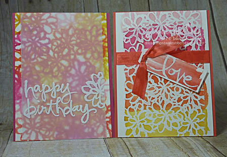 Watercolor Words Cards Watercolored
