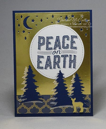 Carols of Chrismtas Bundle Card in Navy and Gold