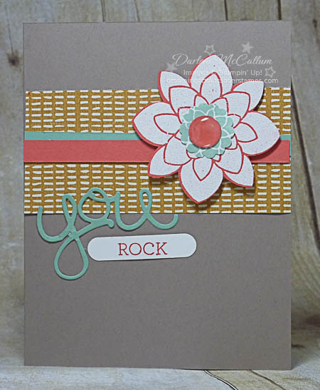 stampin up crazy about you stamp set you rock card