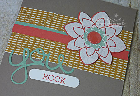 stampin up crazy about you stamp set you rock card close